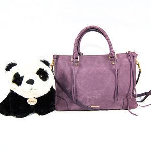Rebecca Minkoff pale purple suede satchel
